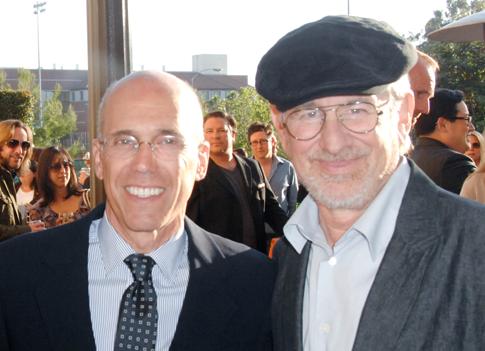 Jeffrey Katzenberg and Steven Spielberg in 2011. (AP)