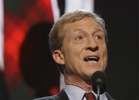 Tom Steyer believes in American democracy… for now (AP)