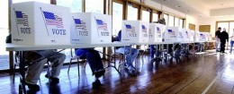Voting booths / AP