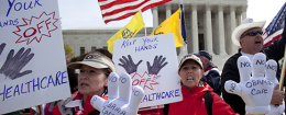 Obamacare protesters / AP