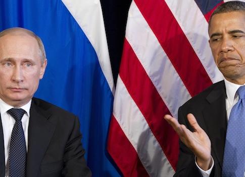 U.S. President Barack Obama with Russian President Vladimir Putin / AP