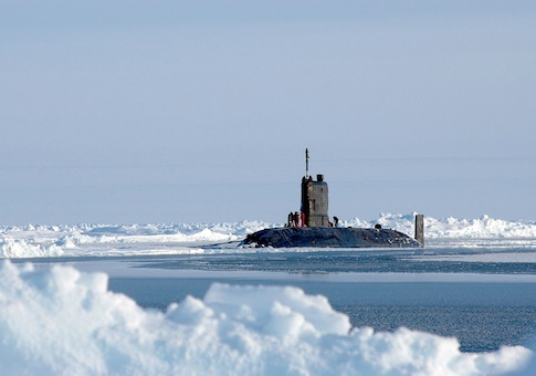 U.S. Navy operational exercise beneath a polar ice cap in the Arctic