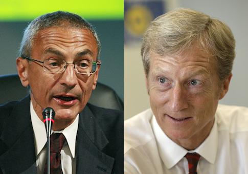 John Podesta, Tom Steyer / AP