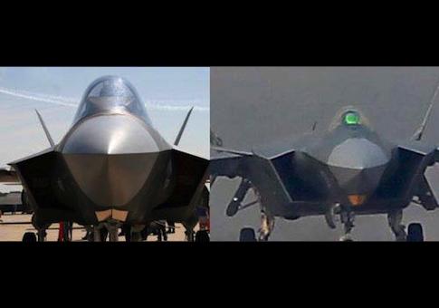 ال j20 نسخة مسروقة عن جدارة من الإف 35 Photo-comparison-of-the-U.S.-F-35-left-and-Chinese-J-20.-China-obtained-F-35-design-data-in-2007-through-cyberespionage.-Chinese-Internet