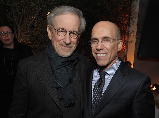 Steven Spielberg and Jeffrey Katzenberg (AP)