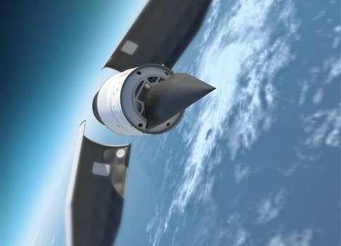 Artists impression of the Falcon HTV-2 hypersonic aircraft