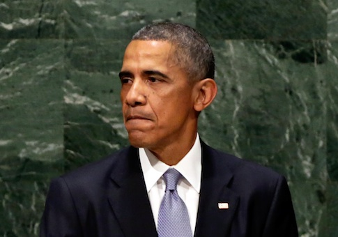 President Barack Obama addresses the United Nations General Assembly / AP