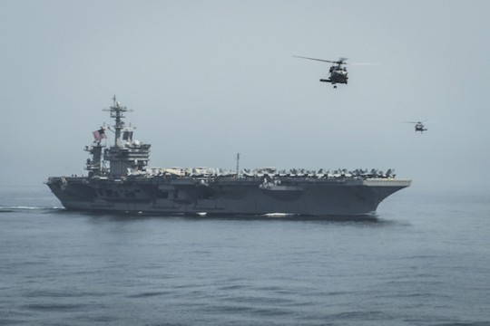 The USS Theodore Roosevelt, near Yemen / AP