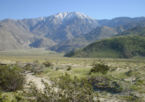 The San Jacinto Mountains in Riverside County, Calif.