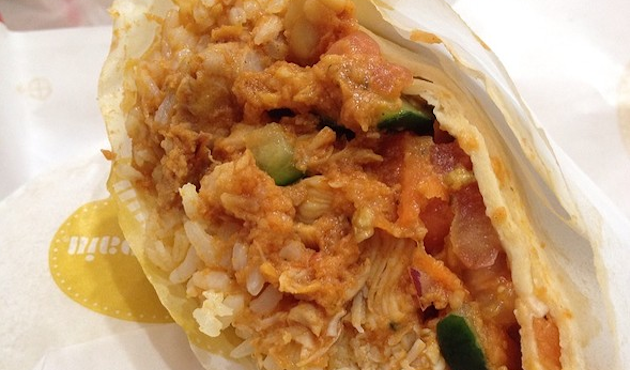 Au bon pain s mayan chicken harvest wrap via foodspotting com
