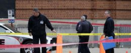 Police cover the body of a suspect on the campus of Ohio State University in Columbus, Nov. 28, 2016 / AP