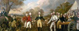 'Surrender of General Burgoyne' by John Trumbull (1821)