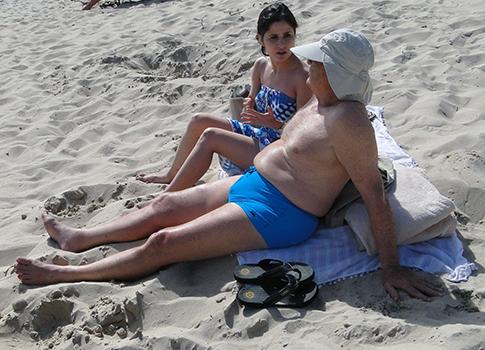 George Soros on the beach / Splash News